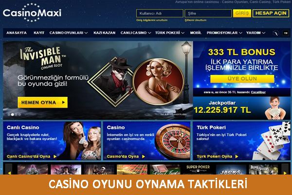 Casino oyunları, casino taktikleri, casino tüyoları